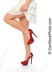 Red Shoes 193 - The legs and shoes of a seductive girl