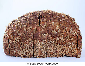 Sliced bread with sunflower seeds