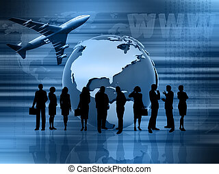 Global business - Conceptual image showing global business
