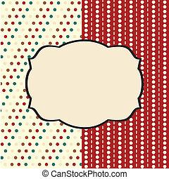 Holiday scrap card with polka dot