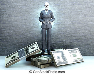 Deadly Greed A dead business standing on money