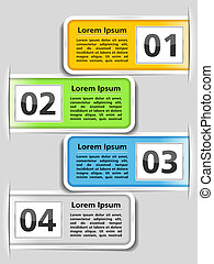 Design template with four elements, vector eps10...