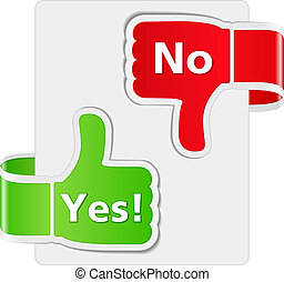 Yes and No Signs, vector eps10 illustration
