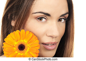 woman portrait with flower
