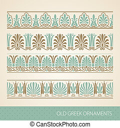 Greek ornament - Old greek ornament. Vector illustration.