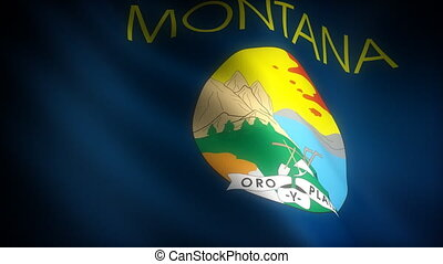 Flag of Montana seamless