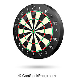 Dartboard - Realistic dartboard. Illustration on white...