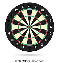 Dartboard - Realistic dartboard Illustration on white...