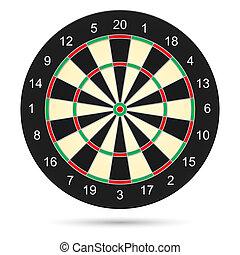Dartboard - Realistic dartboard Illustration on white...
