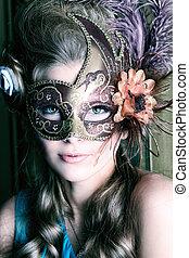 flower on mask