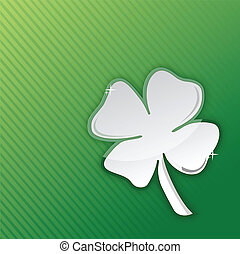 lucky clover illustration design over a green background