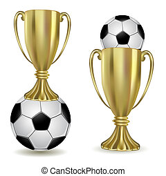 Football cup with ball