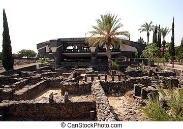 Capernaum, Israel - Capernaum - The Church of the House of...