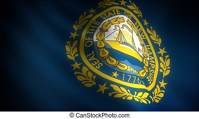 Flag of New Hampshire seamless