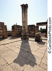 Synagogue of Capernaum - Ruins of the great synagogue of...