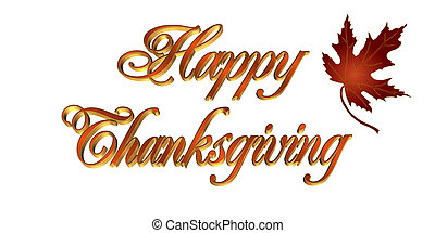 Thanksgiving Greeting card 3D text - Illustration...