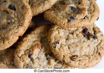 Oatmeal Raisin Cookie - Outmeal cookies with raisins.