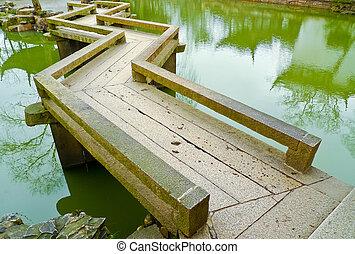 Zig-Zag Bridge - Traditional zig-zag bridge in Humble...