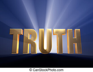 "Bold Truth - Gold ""TRUTH"" on dark blue background..."