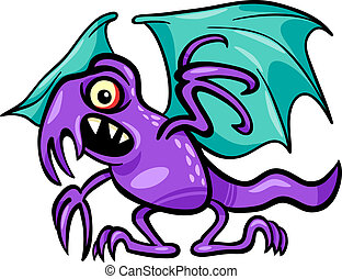 basilisk monster cartoon illustration - Cartoon Illustration...