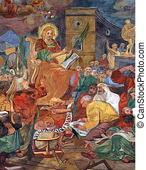 St. Catherine of Alexandria - St. Catherine discusses with...