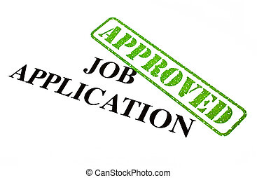 Job Application APPROVED - A close-up of an APPROVED Job...