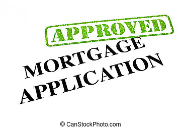 Mortgage Application APPROVED - A close-up of an APPROVED...