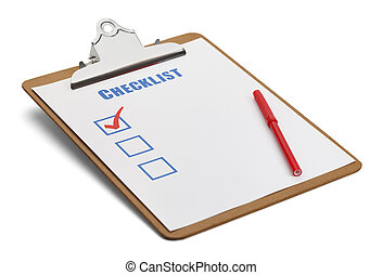 Clipboard Checklist - Classic Clipboard with Checklist and...