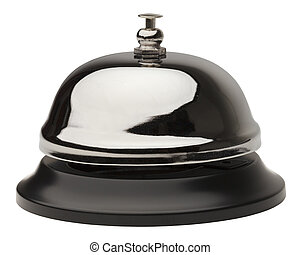 Service Bell - Metal service bell on white background...