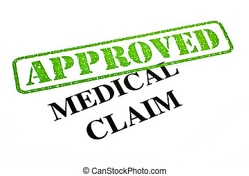 Medical Claim APPROVED - A close-up of an APPROVED Medical...