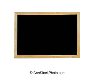 black board isolated on white