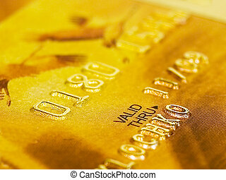 Golden Credit Card close up