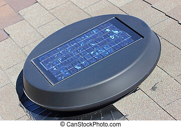 Solar Attic Fan - A close up view of a solar attic fan...