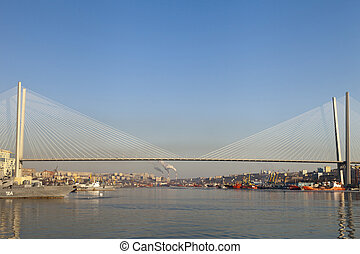 The bridge through a bay