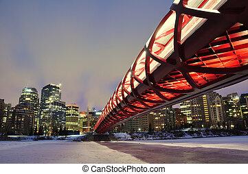 Calgary pedestrian bridge - A Calgary pedestrian bridge...