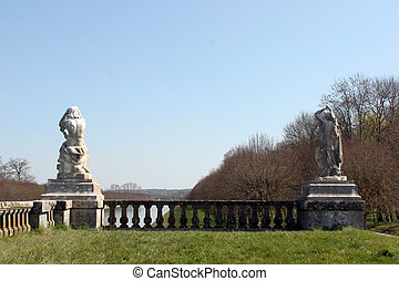 France,park of Fontainebleau palace - France, park of...