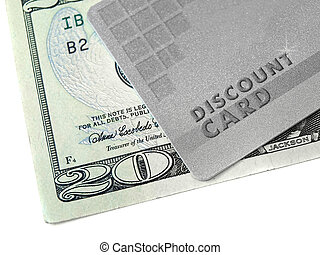 Discount card and money