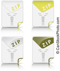 File type icon ZIP - Creative and modern design ZIP file...