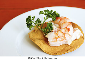 shrimp tostada - A delicious mexican style appetizer -...