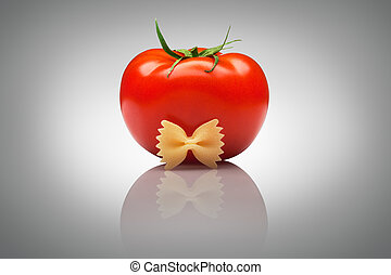 Quite an imposing sir tomato - A nice ripe tomato with a...