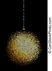 gold disco ball lights - Vector illustration of gold disco...