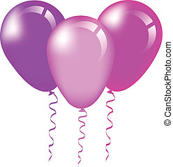pink and purple balloons