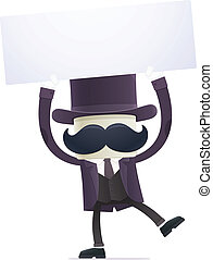 funny cartoon illusionist in various poses for use in...