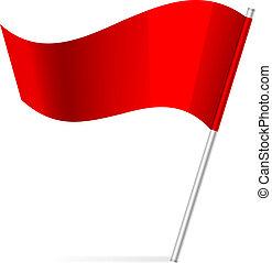 ベクトル, イラスト, 旗