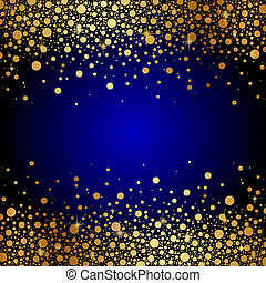 blue and gold luxury background - Vector blue and gold...