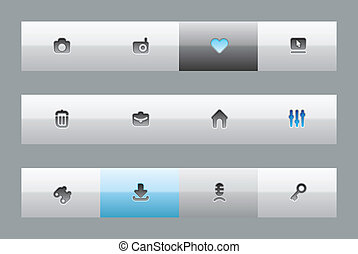 Interface buttons for computer programs and web-design....