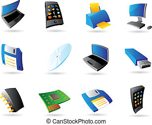 Icons for computer and devices