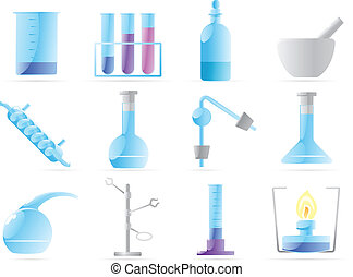 Icons for chemical lab Vector illustration