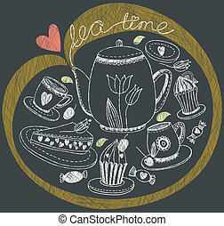 Vintage tea background