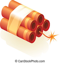 Dynamite - Icon of dynamite Vector illustration